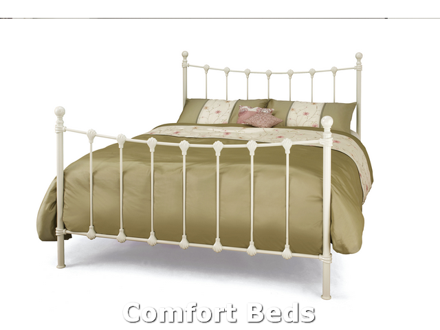 Bed Frames Marseilles Three Quarter Bed Frame In Ivory Gloss