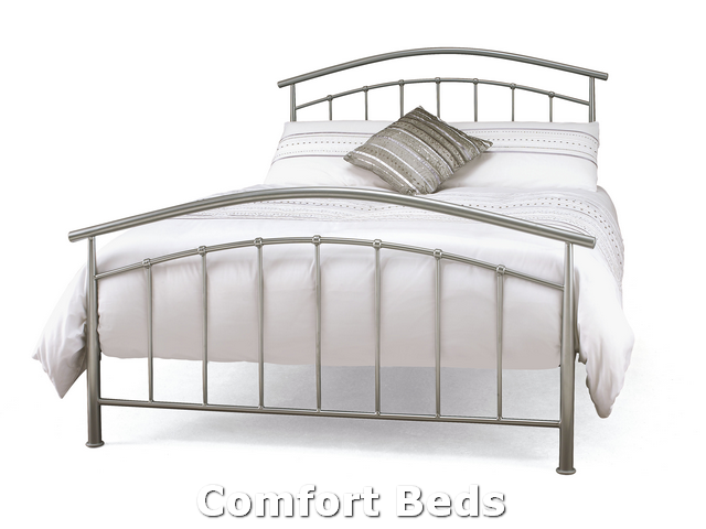 Bed Frames Mercury Three Quarter Bed Frame In Silver